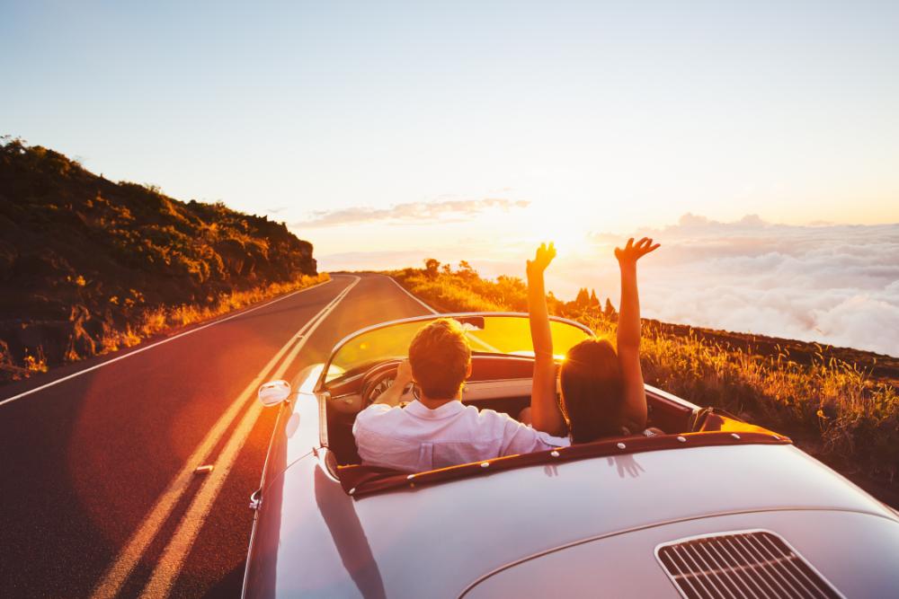 Pärchen im Cabrio, Fahrerlaubnis zurück